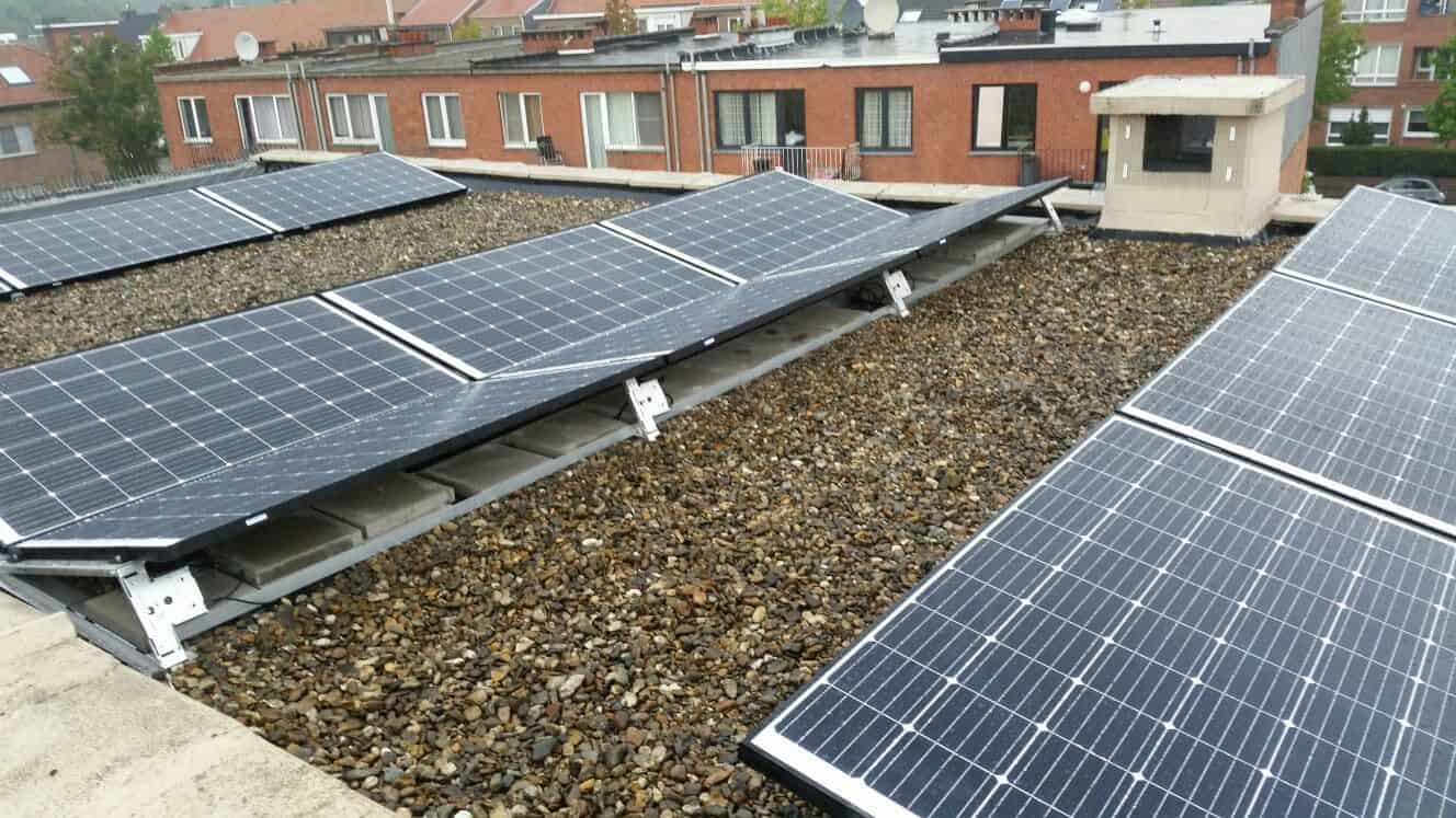 Zonnepanelen plat dak wilrijk zonnepanelen door sun eco bvba