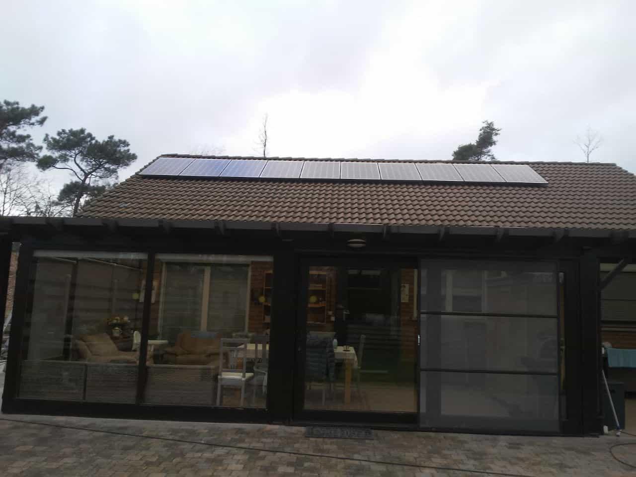 zonnepanelen op pannendak in Bouwel
